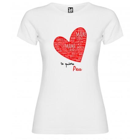 Camiseta corazón puzzle MAMA
